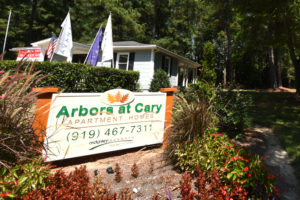 Arbors at Cary Apartment Homes 919-467-7311 sign
